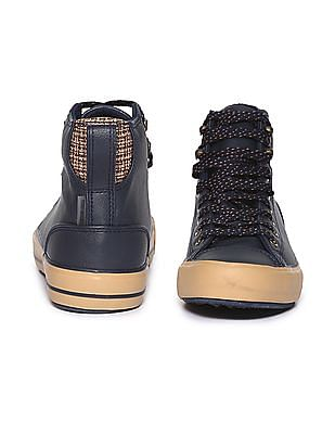 Flying Machine Striped High Top Sneakers