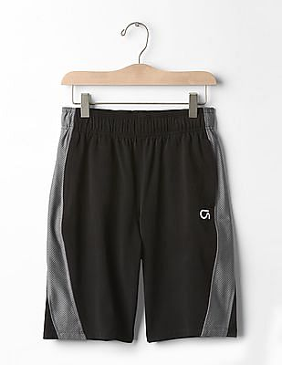 GAP Boys GapFit Kids Mesh-Panel Shorts