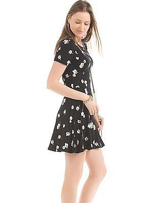 Elle Floral Print Skater Dress