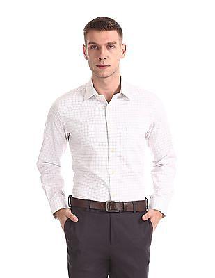 Arrow Check Giza Cotton Shirt