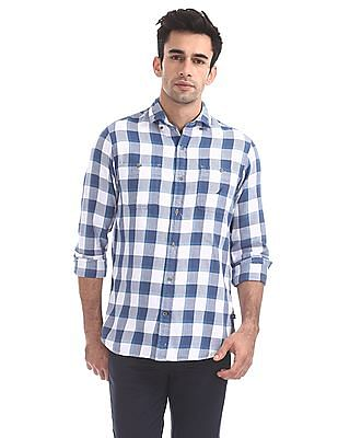 Nautica Long Sleeves Buffalo Flannel Shirt