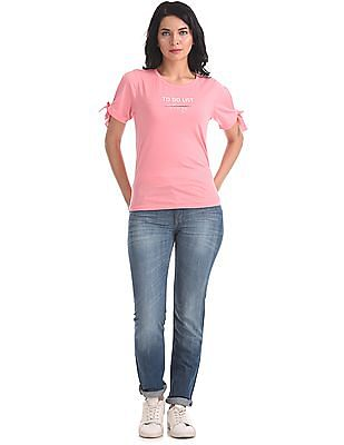 Flying Machine Women Skinny Fit Washed Jeans