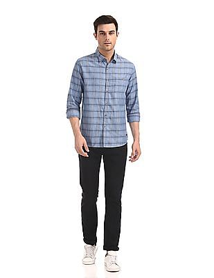 Cherokee Spread Collar Check Shirt