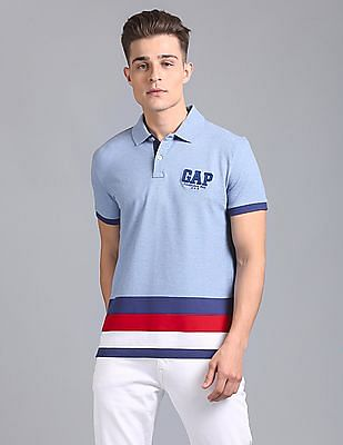 1a066e79 Buy Men Polo Shirt With Striper At Hem & Contrast Under packet ...