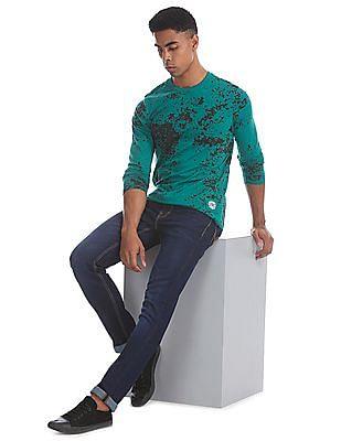 Cherokee Green Long Sleeve Printed T-Shirt