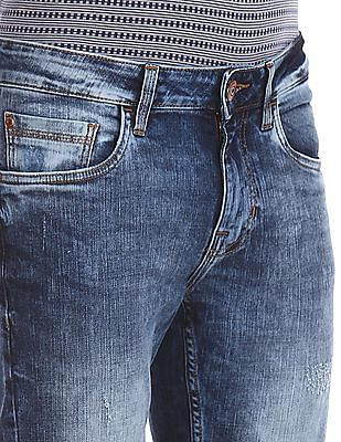 Cherokee Blue Distressed Stone Wash Jeans