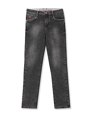 U.S. Polo Assn. Kids Boys Mid Rise Stone Wash Jeans