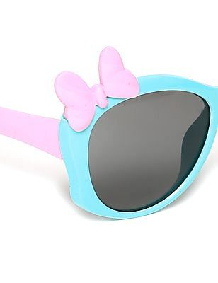 Unlimited Girls Bow Accent Colour Block Sunglasses