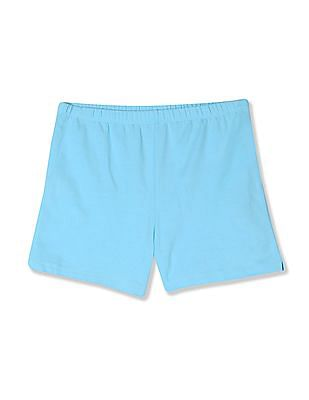 The Children's Place Blue Girls Knit Cotton Stretch Shorts