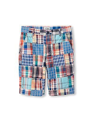 The Children's Place Boys Patchwork Woven Shorts