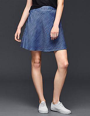 GAP Tencel Chambray Flippy Skirt