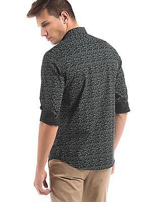 Arrow Newyork Cuboid Print Slim Fit Shirt