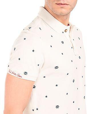U.S. Polo Assn. Denim Co. Printed Cotton Pique Polo Shirt