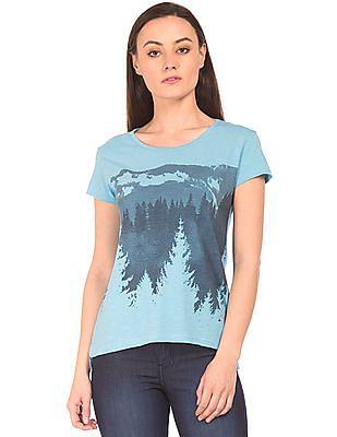 Cherokee Printed Slub T-shirt