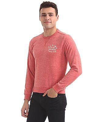 Flying Machine Slim Fit Heathered Sweatshirt