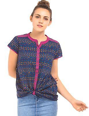 Bronz Doodle Print Cotton Tunic