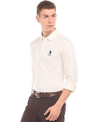 U.S. Polo Assn. Long Sleeve Slim Fit Polo Shirt