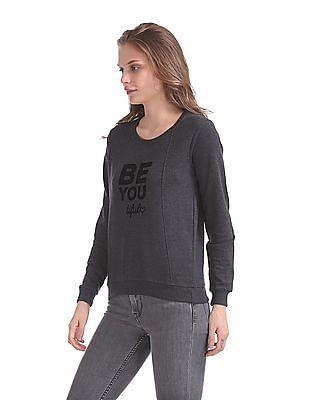SUGR Crew Neck Heathered Sweatshirt