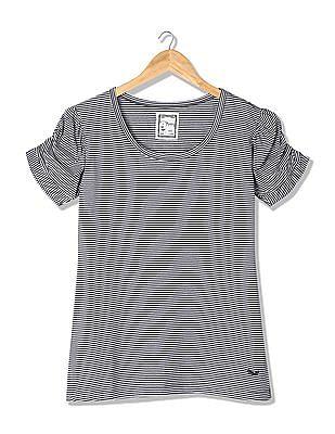 Flying Machine Women Standard Fit Striped T-Shirt