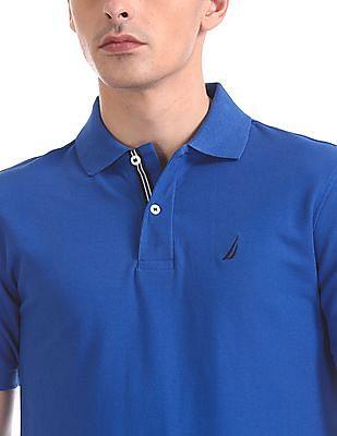 Nautica Short Sleeve Solid Deck Polo Shirt