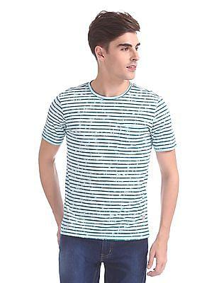 Cherokee Patch Pocket Stripe T-Shirt