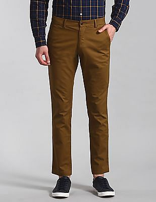 GAP Brown Modern Khakis In Slim Fit With GapFlex