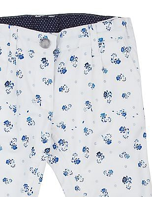 U.S. Polo Assn. Kids Girls Floral Printed Cropped Pants
