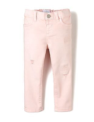 The Children's Place Toddler Girl Lightly Ripped Rinsed Jeans