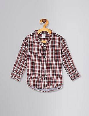 GAP Red Toddler Boy Double-Weave Convertible Shirt