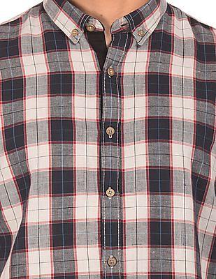Cherokee Cotton Linen Check Shirt
