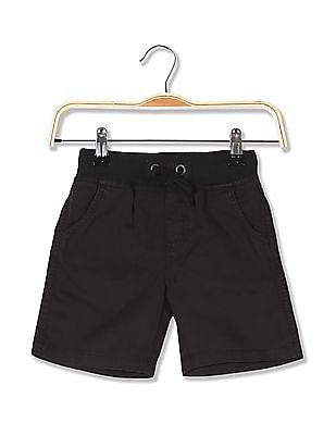 Cherokee Boys Drawstring Waist Solid Shorts