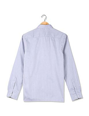 Excalibur Slim Fit Patterned Weave Shirt