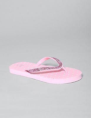 GAP Girls Glitter Dot Flip Flops