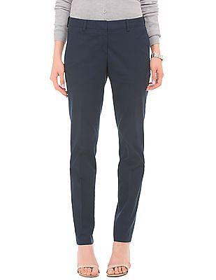 Arrow Woman Adjustable Waist Tapered Fit Trousers