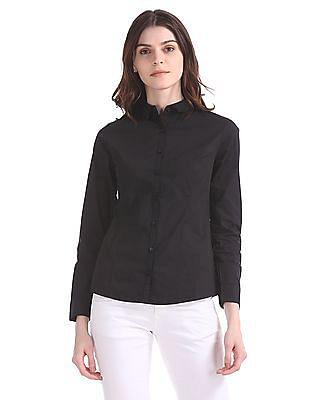 Arrow Woman Solid Cotton Stretch Shirt