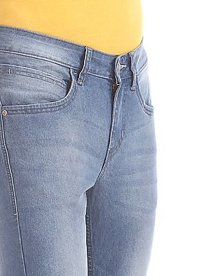 Flying Machine Blue Jackson Skinny Fit Mid Rise Jeans