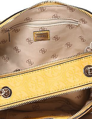 GUESS Linked Chain Brand Embossed Shoulder Bag