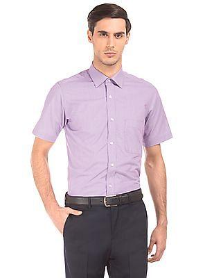 Arrow Regular Fit Puppytooth Shirt