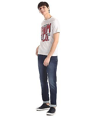 U.S. Polo Assn. Denim Co. Grey Crew Neck Brand Print T-Shirt
