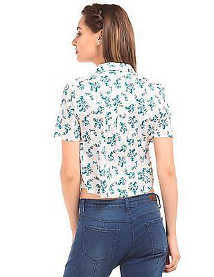 Elle Floral Printed Crop Top