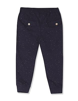Donuts Blue Girls Drawstring Waist Speckled Joggers