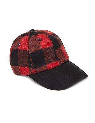 Aeropostale Wool Check Baseball Cap