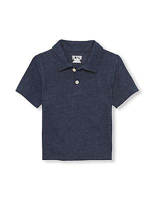 The Children's Place Toddler Boy Short Sleeve Snow Jersey Polo