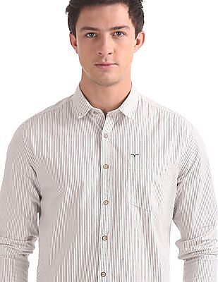 Flying Machine Regular Fit Striped Shirt
