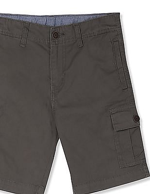 Cherokee Grey Boys Woven Cargo Shorts