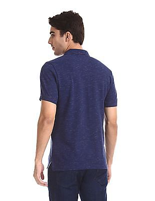 Aeropostale Short Sleeve Slubbed Polo Shirt