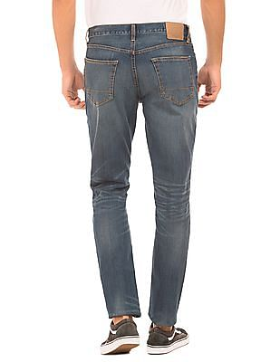 Aeropostale Mid Rise Skinny Tapered Jeans