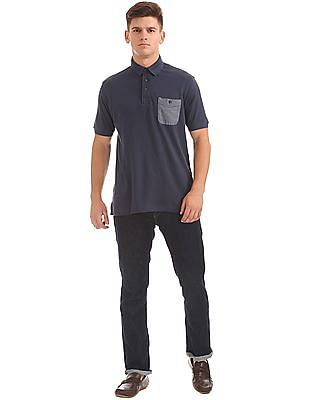 Cherokee Patch Pocket Pique Polo Shirt