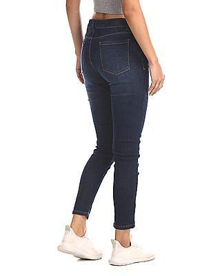Flying Machine Women Blue Veronica Skinny Fit Mid Waist Jeans