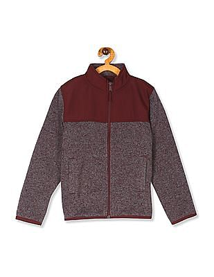 The Children's Place Boys Marled Sweater Trail Jacket